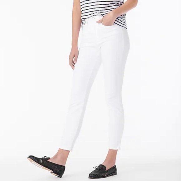 """New J Crew Tall 9"""" High Rise Toothpick Jean white"""